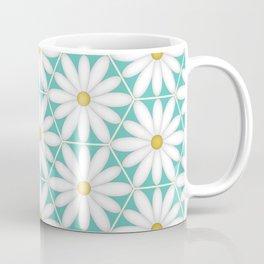 Daisy Hex - Turquoise Coffee Mug