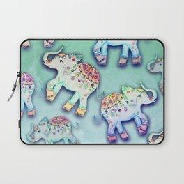 ELEPHANT PARTY MINT Laptop Sleeve