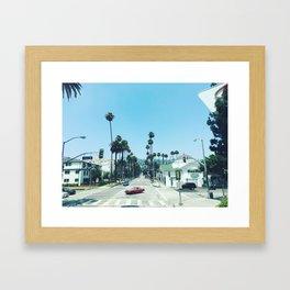 beverly hills streets Framed Art Print