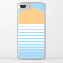 Tropical Sun Clear iPhone Case