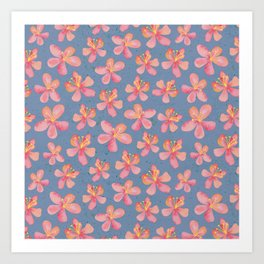Hibiscus Flowers – Aloha – Hawaii inspired pattern Art Print