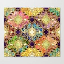 Marrakesh Flowers violet Canvas Print