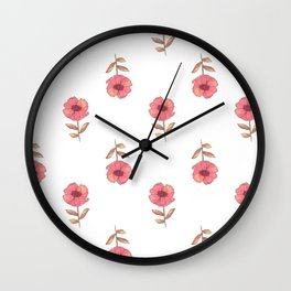a flower is a flower is Wall Clock