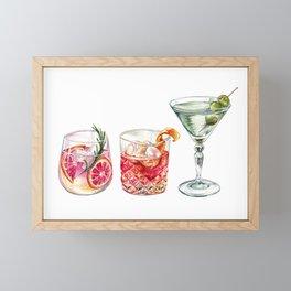 Watercolor Cocktails  Framed Mini Art Print