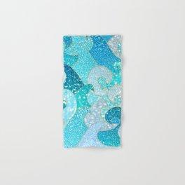 Mermaid Waves And Sea Faux Glitter - Sun Light Over The Ocean Hand & Bath Towel