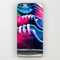 sneakers iPhone & iPod Skins featuring sneakers by NatalieBoBatalie