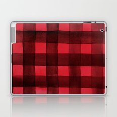 Buffalo Plaid Watercolor in Red Laptop & iPad Skin