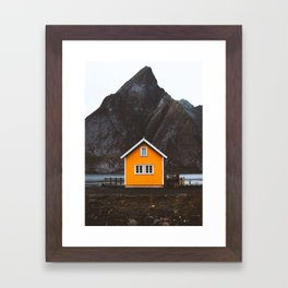 Yellow Cabin Framed Art Print