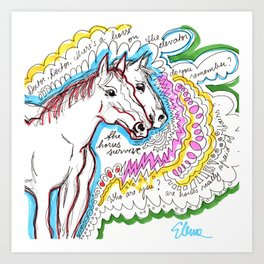 Make Room for the Horses Art Print