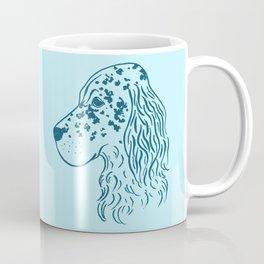 English Setter (Light Blue and Blue) Coffee Mug