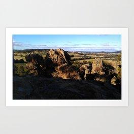 Hanging Rock Panorama Art Print