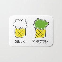 beer and pineapple Bath Mat