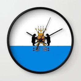 flag of novgorod Wall Clock