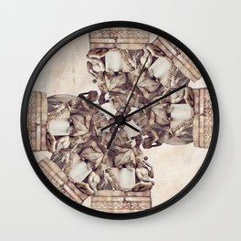Collage from a fountain in Lima - Peru #eclecticart Wall Clock