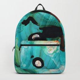 Aqua Teal Art - Volley - Sharon Cummings Backpack