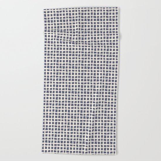 Blue Scribbles Pattern 07 Beach Towel