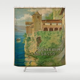 Vintage poster - Italy Shower Curtain