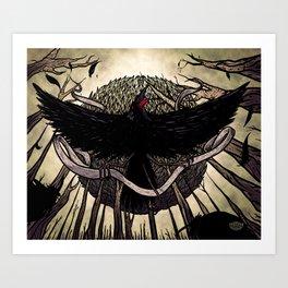 Yatagarasu, the Dark Sun Art Print