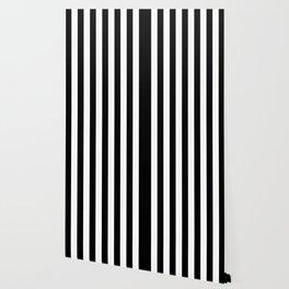 Vertical Stripes (Black/White) Wallpaper