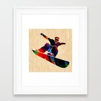 snowboard Framed Art Prints featuring Snowboard by marvinblaine
