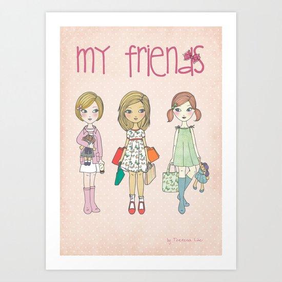 My friends Art Print