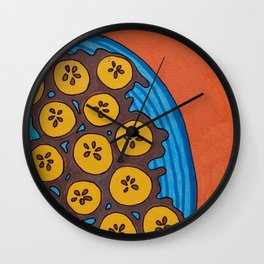 fried plantains Wall Clock