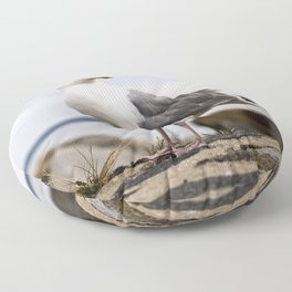 Beautiful Seagull of the Baltic Floor Pillow
