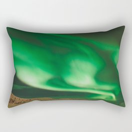 Northern Lights in Norway Rectangular Pillow