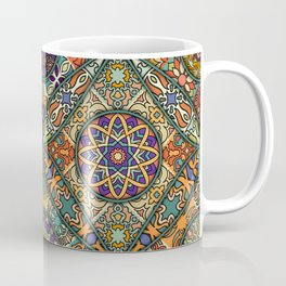 Vintage patchwork with floral mandala elements Coffee Mug
