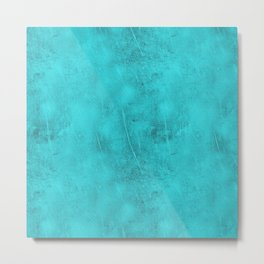 Metal Blue Turquoise Background Metal Print