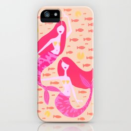 Koi Mermaids – Peach Palette iPhone Case