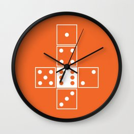 Orange Unrolled D6 Wall Clock