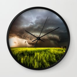 Inflow - Incredible Storm in Southwest Oklahoma Wall Clock