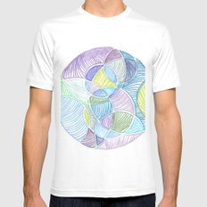 Bubbles MEDIUM White Mens Fitted Tee