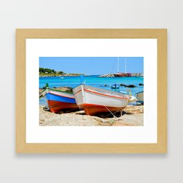 Sicilian Fishing Boats Framed Art Print