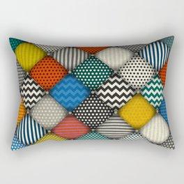 buttoned patches Rectangular Pillow