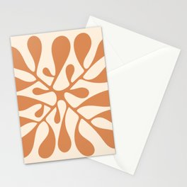 Matisse Inspired Abstract Cut Out orange Stationery Cards