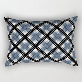 Black and blue tartan Rectangular Pillow