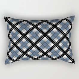 Black and blue tartan Rectangular Pillow