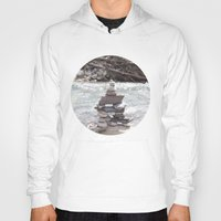 allyson johnson Hoodies featuring Johnson Canyon Inukshuk by RMK Photography