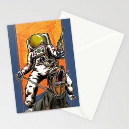 Angry Astronaut Stationery Cards