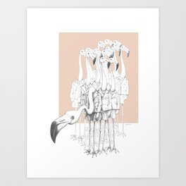 Weird & Wonderful: Flamingo Boys Art Print