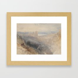 """J.M.W. Turner """"Moon over Lausanne"""" Framed Art Print"""