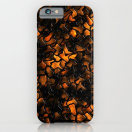 Ancient Amber Wobbly Mosaic Tiles iPhone Case