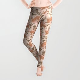 Vintage, Boho Tigers and Bamboos Leggings
