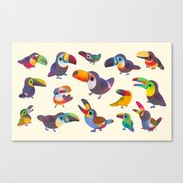 Toucan - pastel Canvas Print