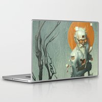 dave grohl Laptop & iPad Skins featuring Aboard a Dying Construct by Dave E. Phillips
