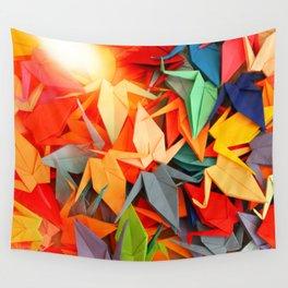 Senbazuru rainbow Wall Tapestry