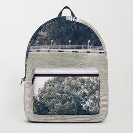Calm river side | modern landscape photography Backpack