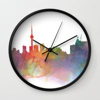 toronto Wall Clocks featuring Toronto  by Daniel McLaren